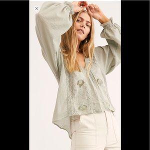 Free People Sivan blouse. XL. NWOT